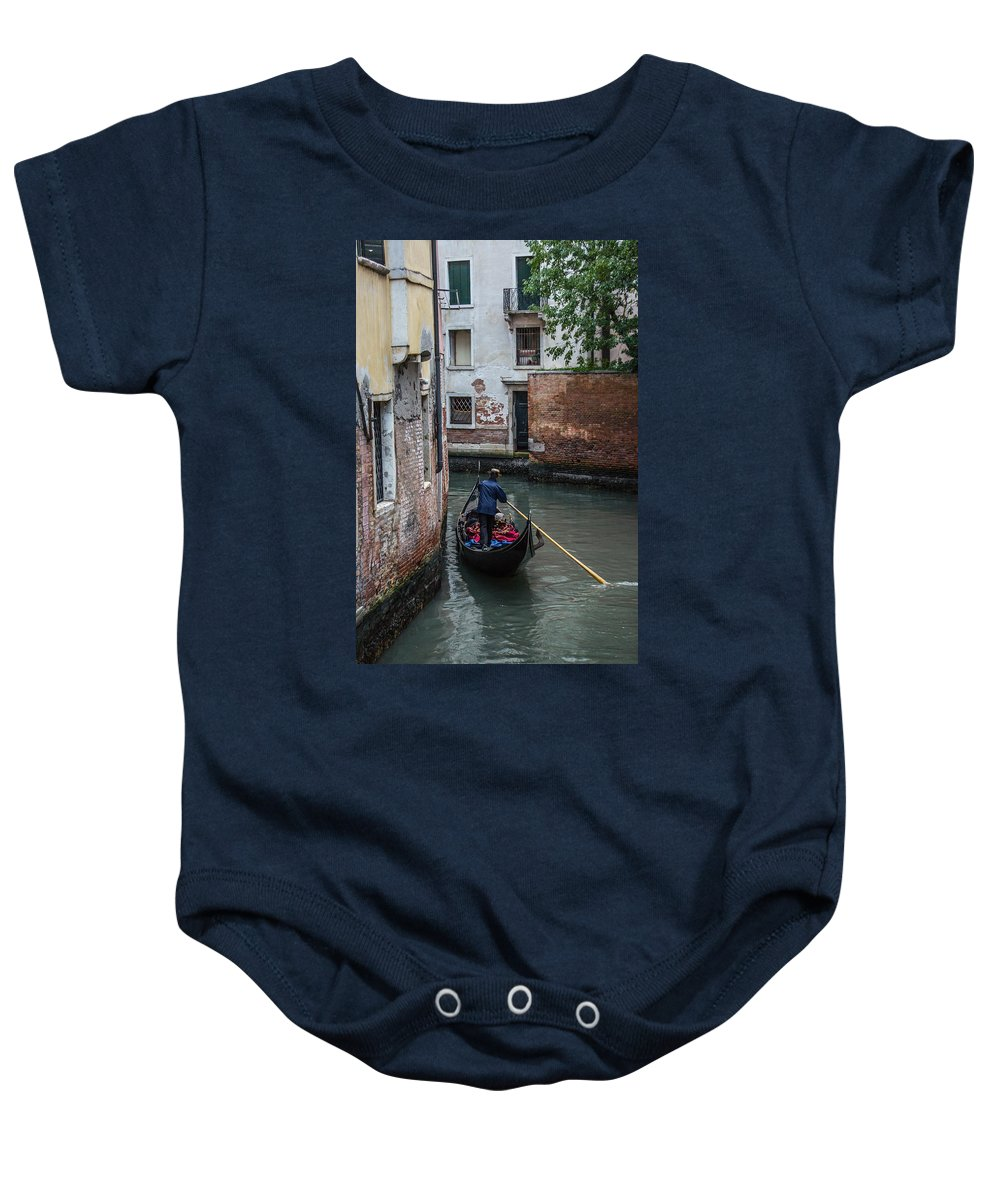 Venice Baby Onesie featuring the photograph Simply Venice by Diana Weir