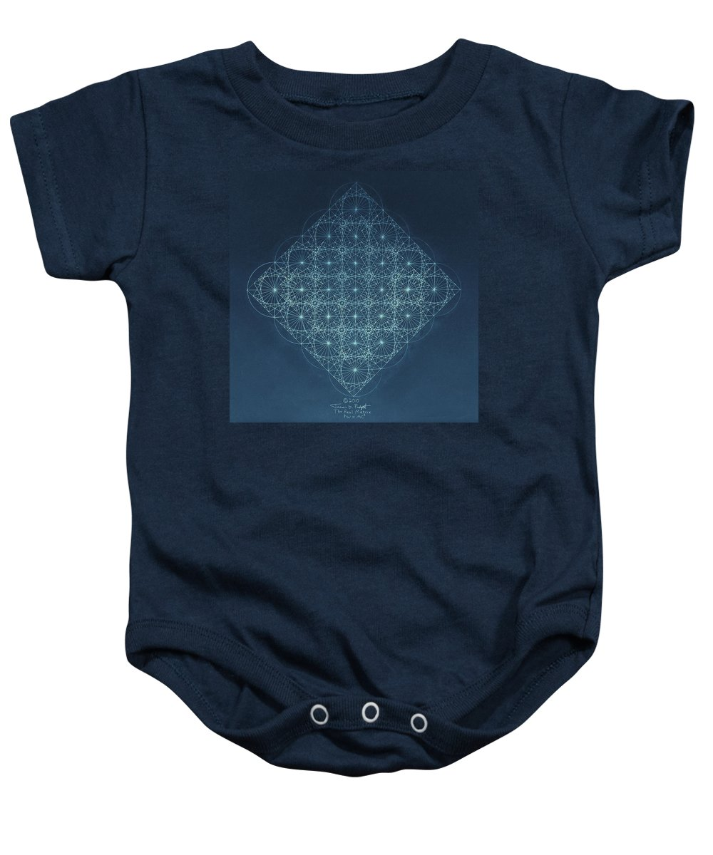 Fractal Baby Onesie featuring the drawing Sine Cosine And Tangent Waves by Jason Padgett