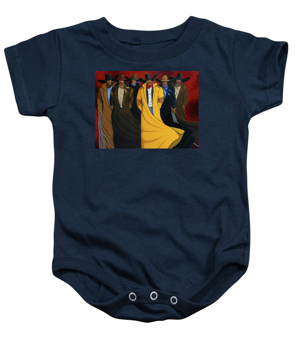 Contemporary Baby Onesie featuring the painting Six Pac by Lance Headlee