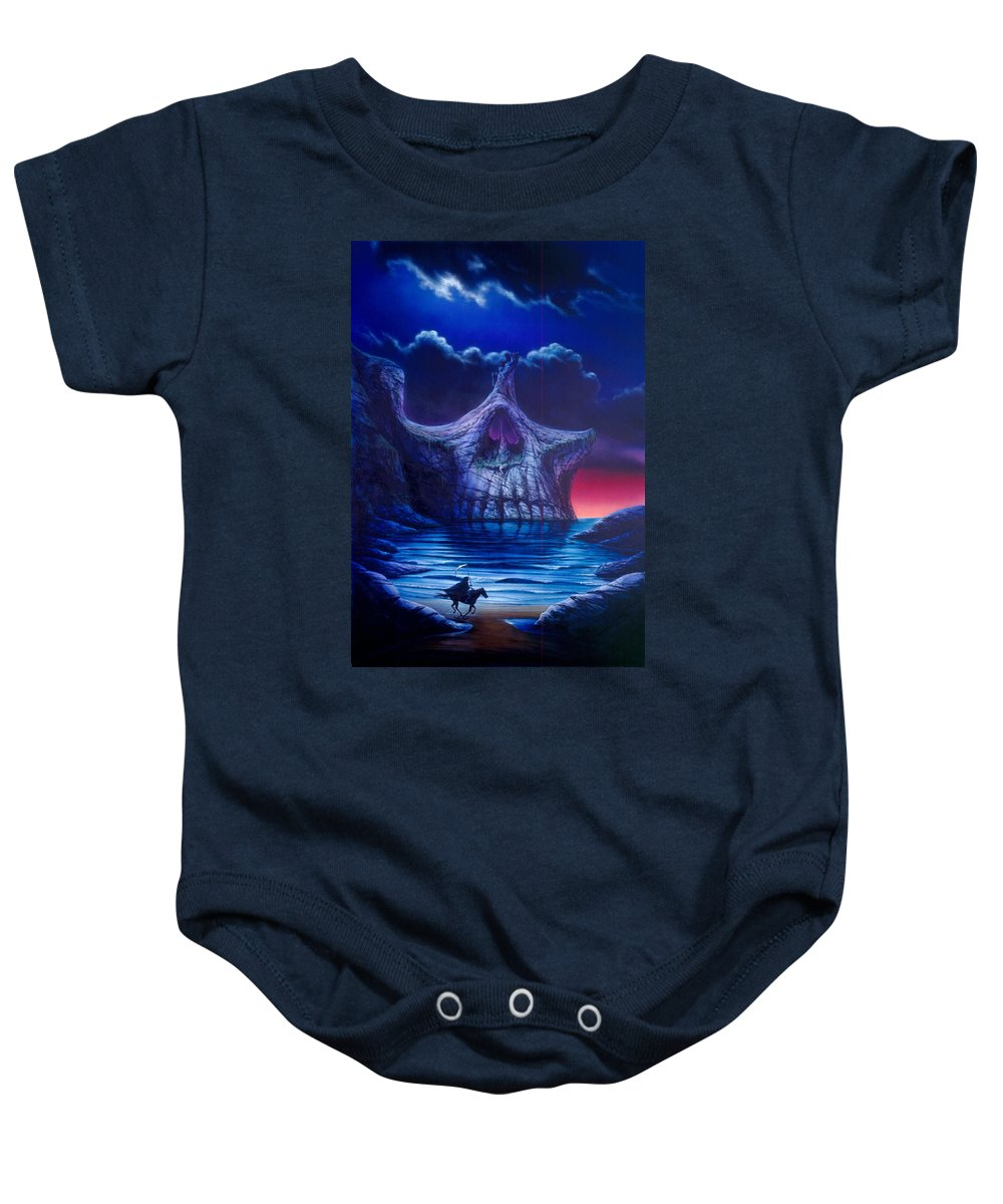 Adventure Baby Onesie featuring the photograph Skull Point by Garry Walton