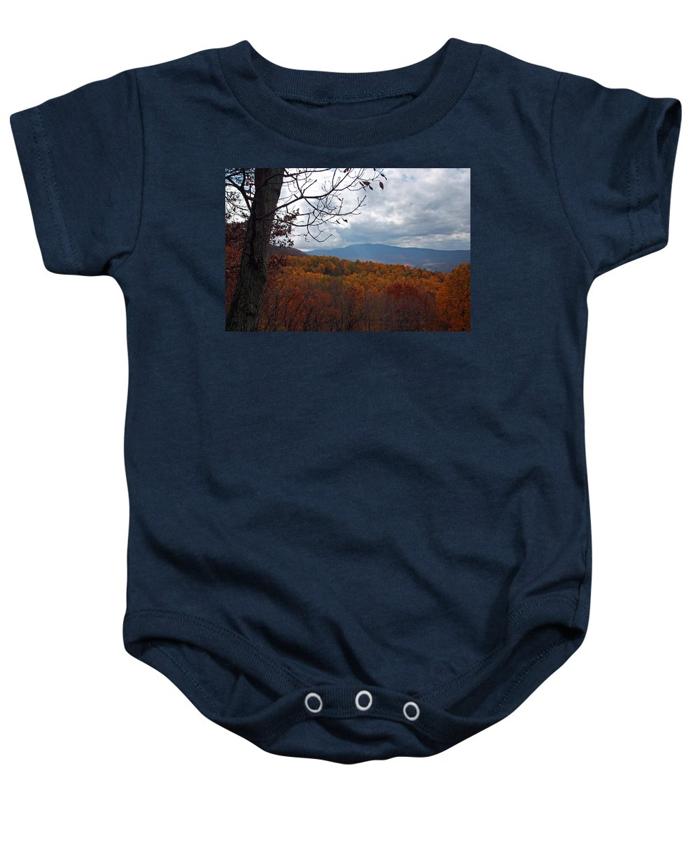 Highway Baby Onesie featuring the photograph Skyline2584 by Carolyn Stagger Cokley