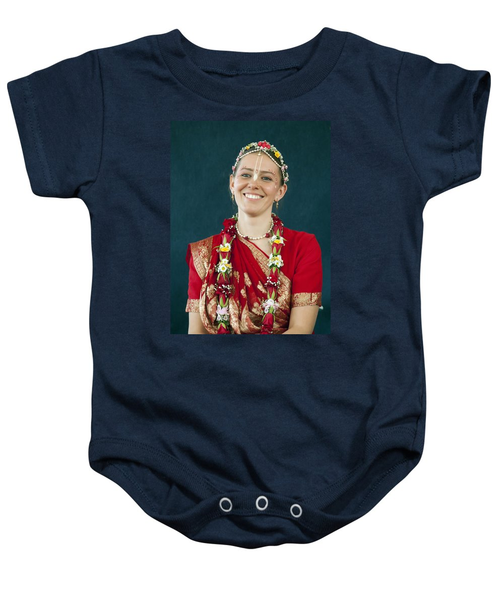 Bride Baby Onesie featuring the photograph Smile by Daniel Csoka