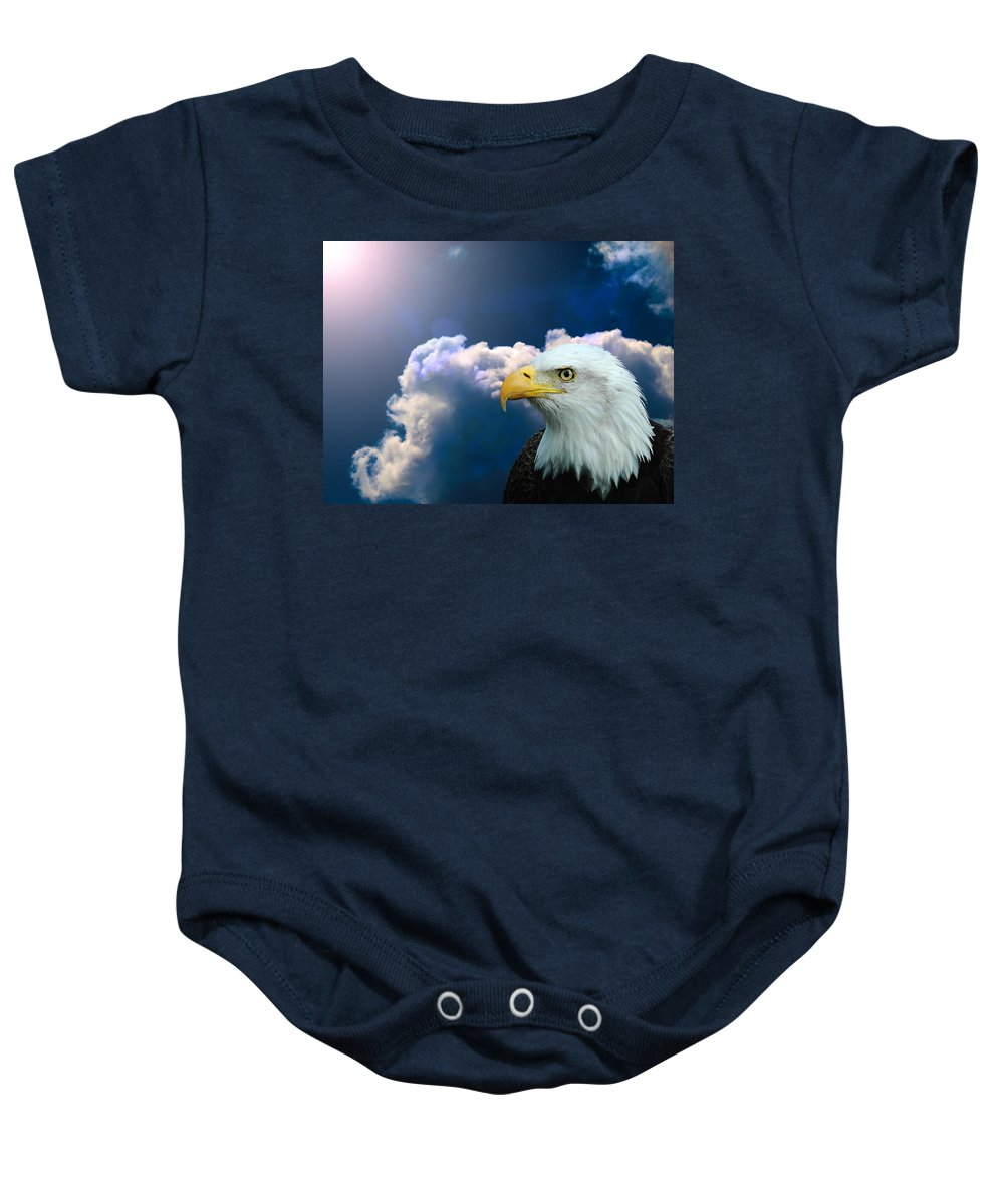 Eagle Baby Onesie featuring the digital art Social Justice by Robert Orinski