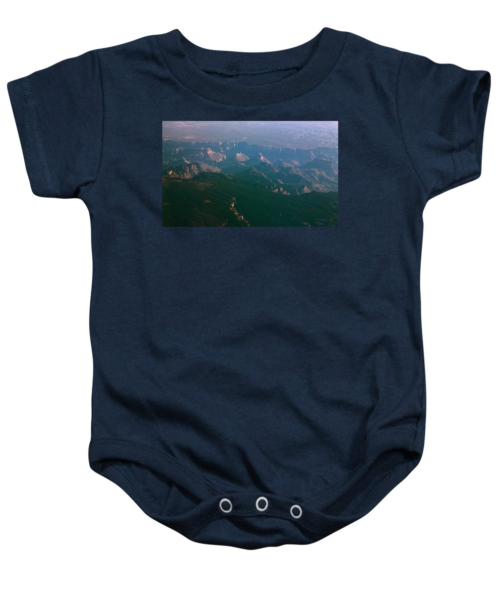 Rocky Baby Onesie featuring the photograph Soft Early Morning Light Over The Grand Canyon 5 by Kume Bryant