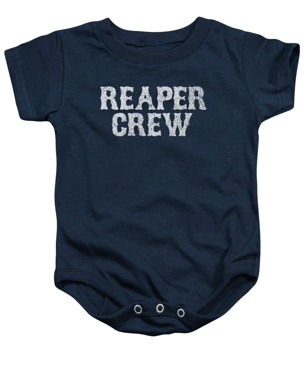0dcf5f633bd Sons Of Anarchy Baby Onesie featuring the digital art Sons Of Anarchy - Reaper  Crew by