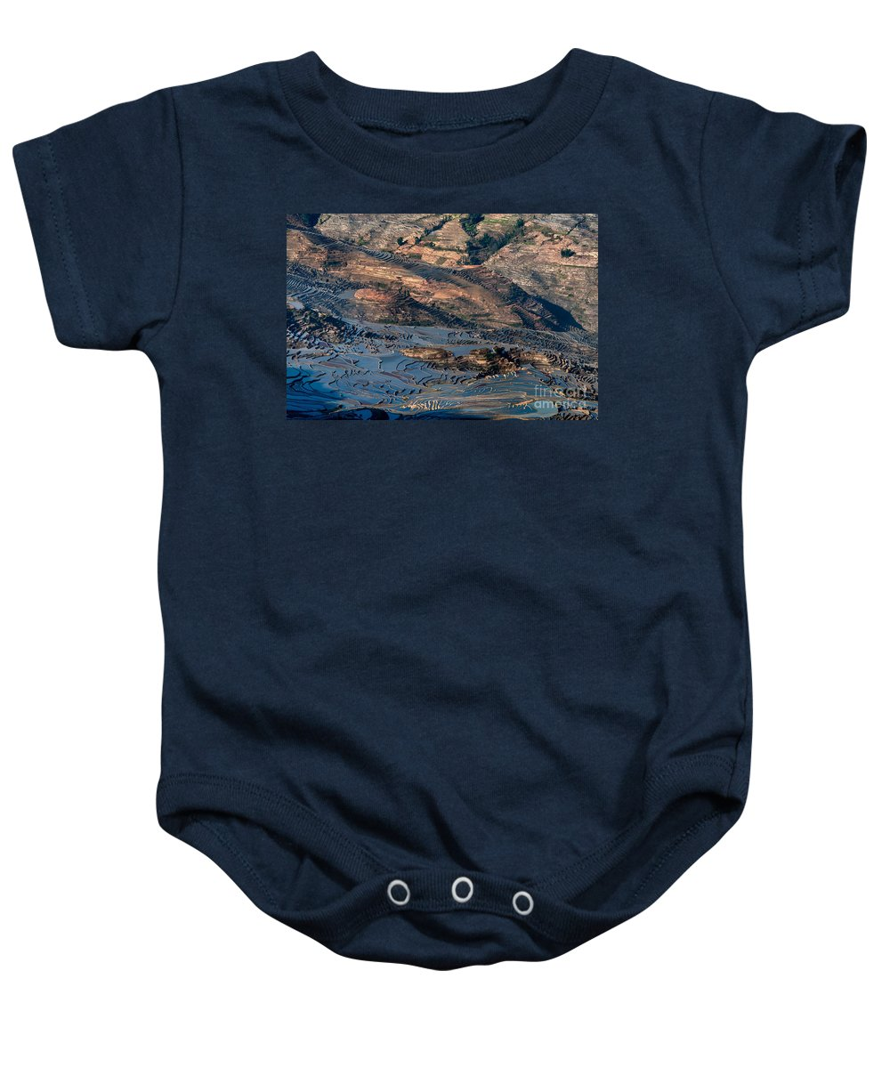 Agriculture Baby Onesie featuring the photograph Spectacular View Of Rice Terrace by Kim Pin Tan