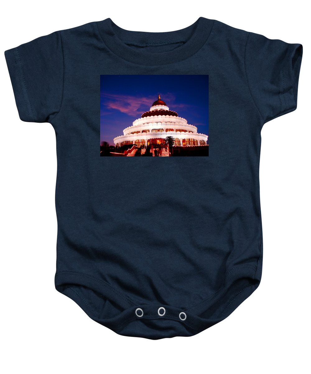 Guru Baby Onesie featuring the photograph Sri Sri Ravi Shankar Ashram India by Sumit Mehndiratta
