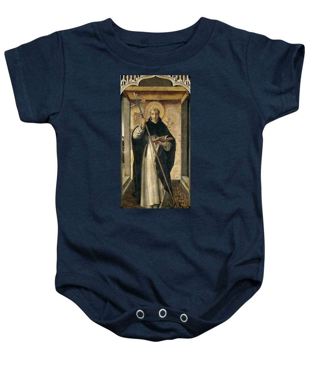 Pedro Berruguete Baby Onesie featuring the painting St. Dominic De Guzman by Pedro Berruguete