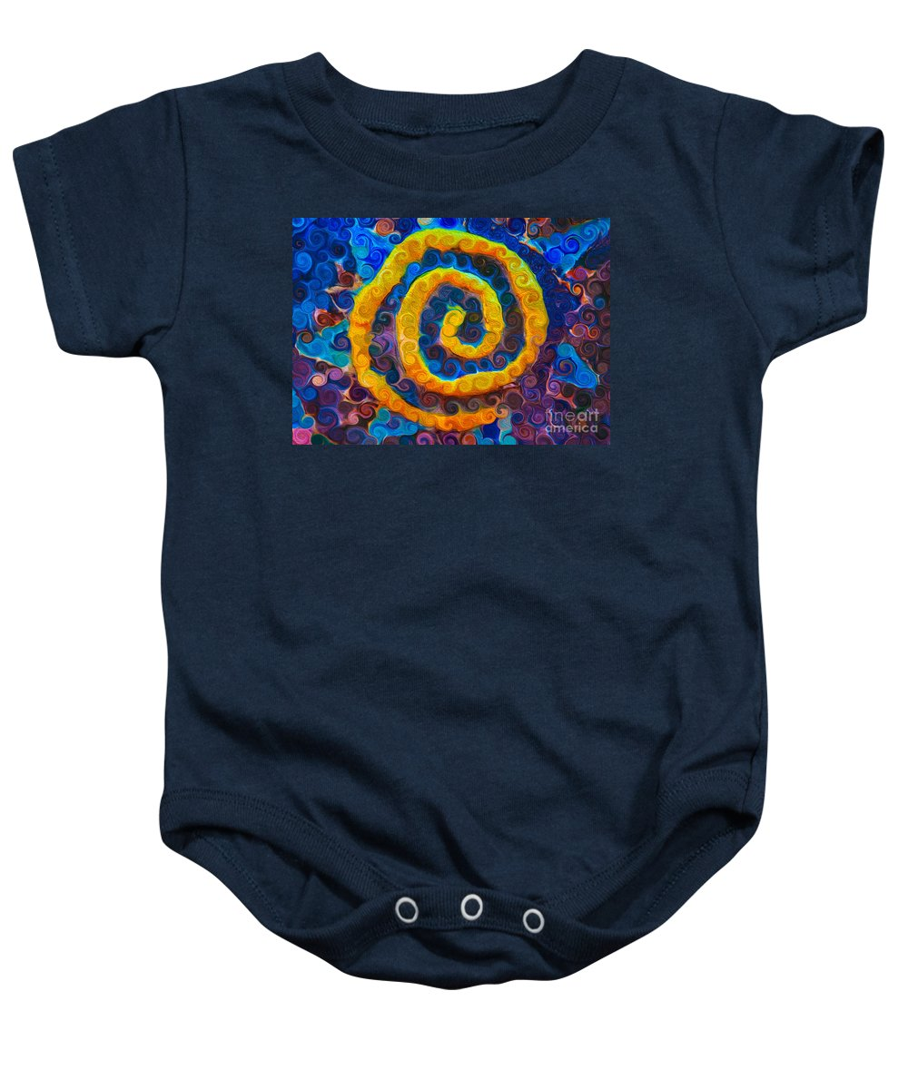 5x7 Baby Onesie featuring the painting Stars At Rest by Omaste Witkowski