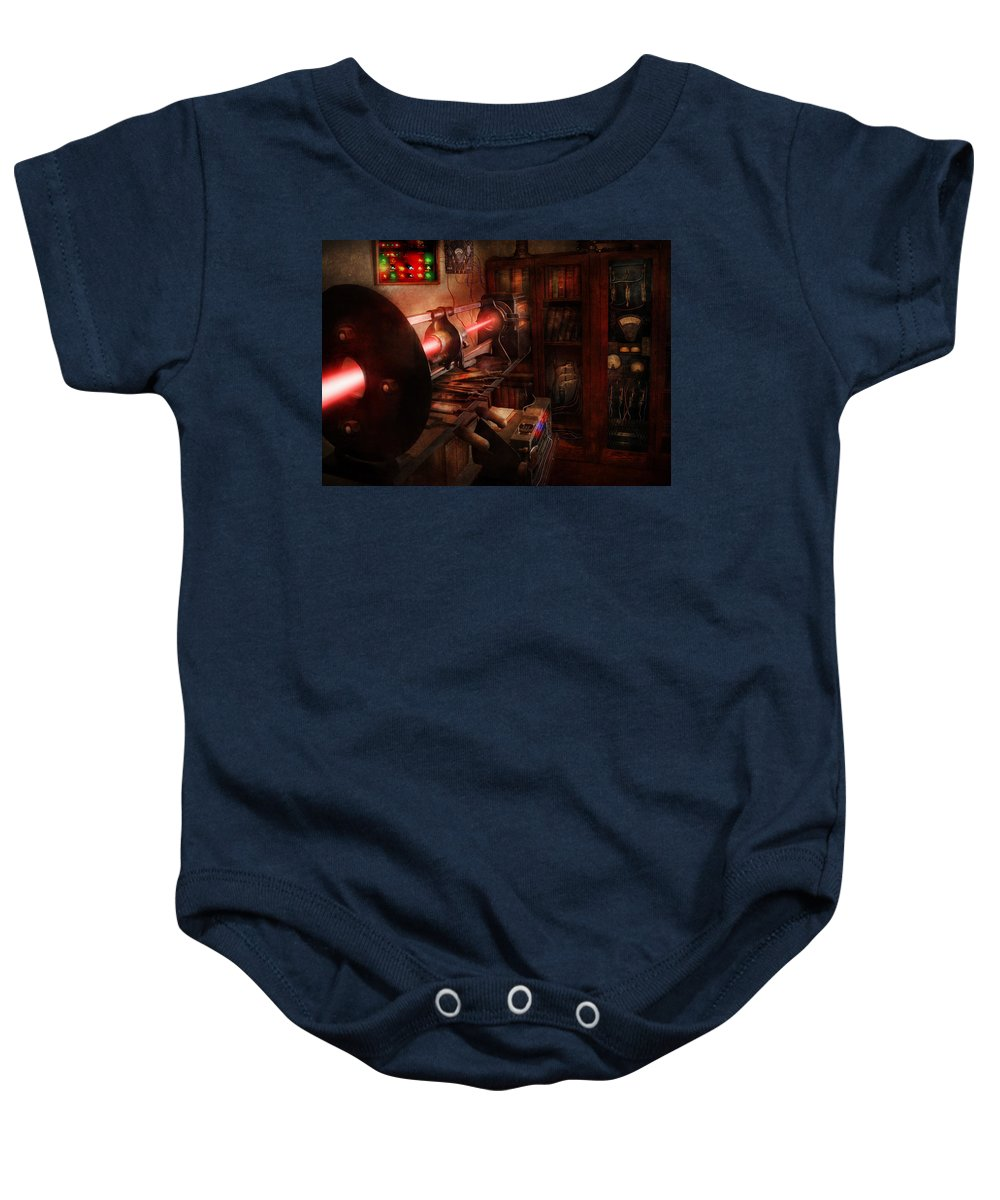 Cyberpunk Baby Onesie featuring the photograph Steampunk - Photonic Experimentation by Mike Savad