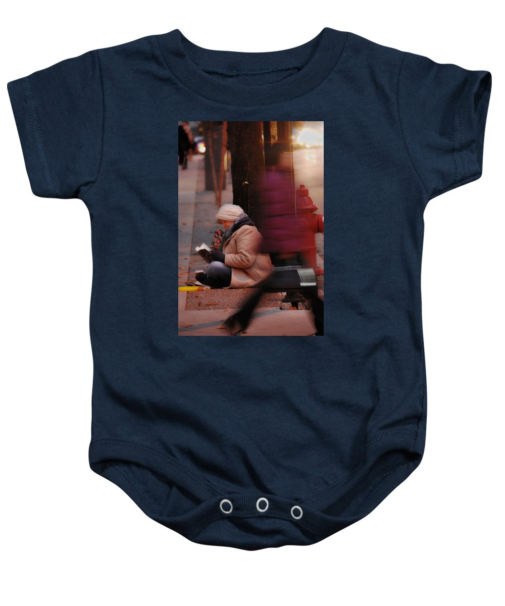 Street Photography Baby Onesie featuring the photograph Stories That Leave by The Artist Project
