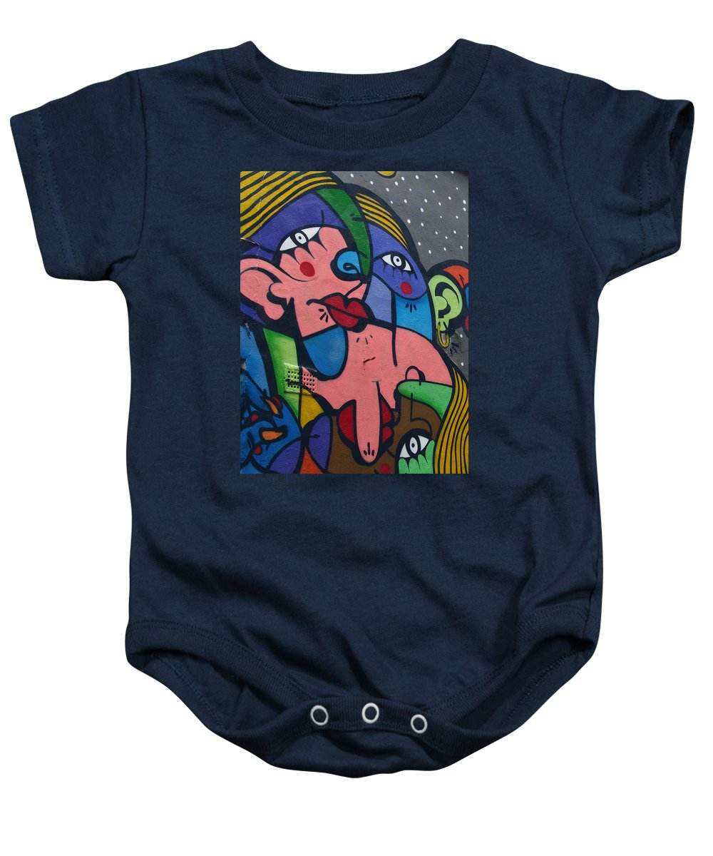 Street Art Baby Onesie featuring the photograph Street Picasso by David Resnikoff