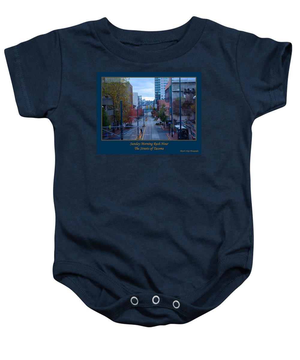 Tacoma Baby Onesie featuring the photograph Sunday Morning Rush Hour by Tikvah's Hope