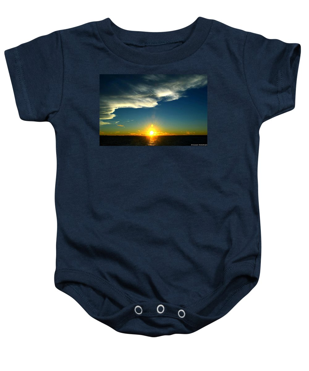 Chesapeake Bay Baby Onesie featuring the photograph Sunset @ Chesapeake Bay-2 by Srinivasan Venkatarajan