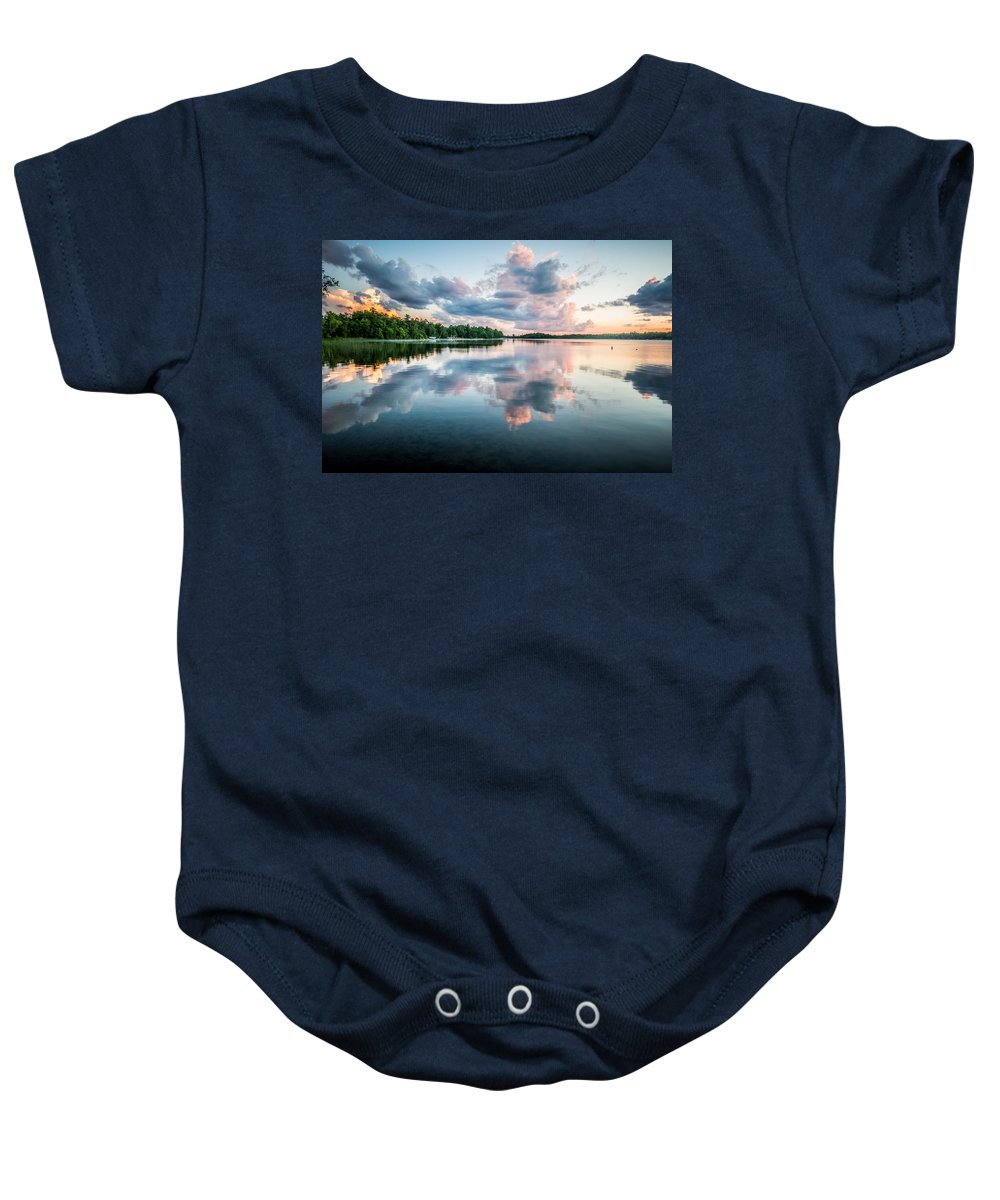Sunset Baby Onesie featuring the photograph Sunset Relections by Paul Freidlund