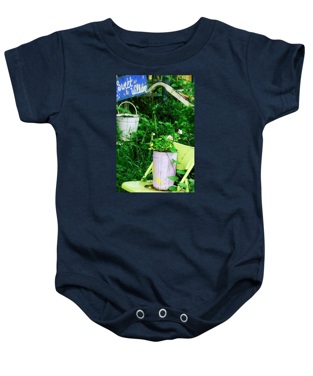 Chair Baby Onesie featuring the photograph Sweet William by Trish Mistric