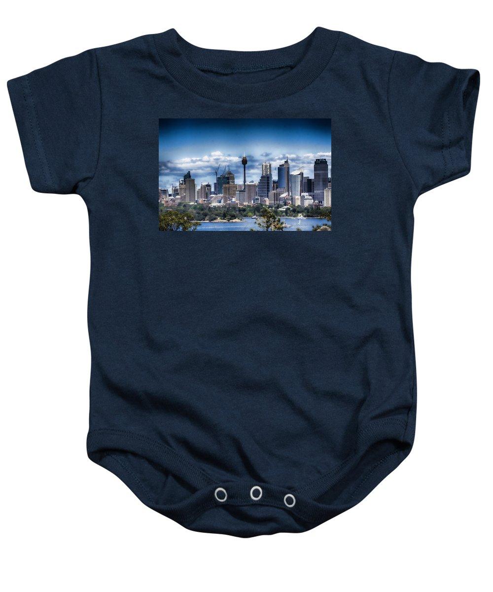 Sydney Baby Onesie featuring the photograph Sydney Australia Skyline by Douglas Barnard