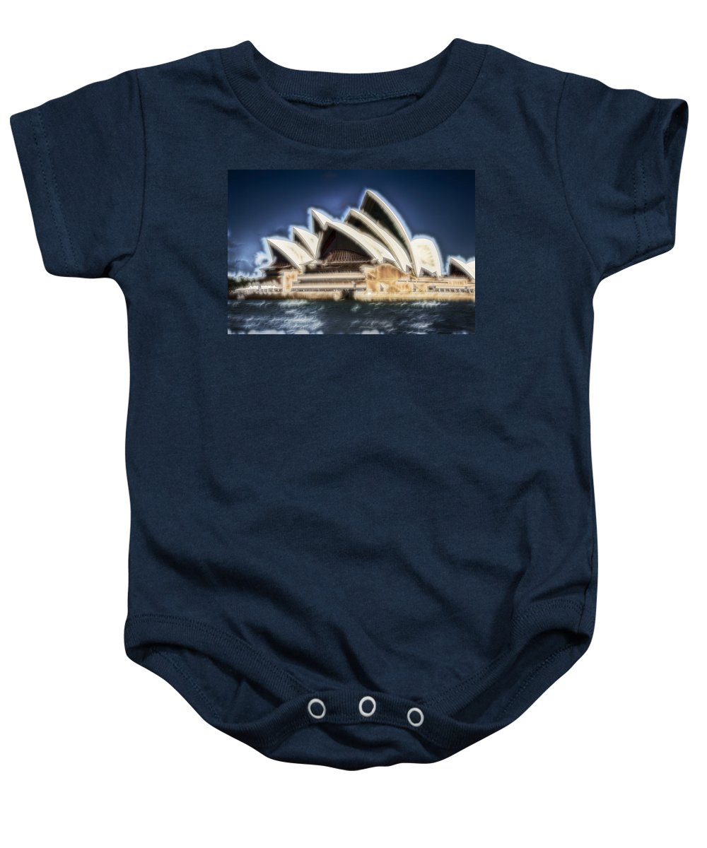 Sydney Opera House Baby Onesie featuring the photograph Sydney Opera House V11 by Douglas Barnard