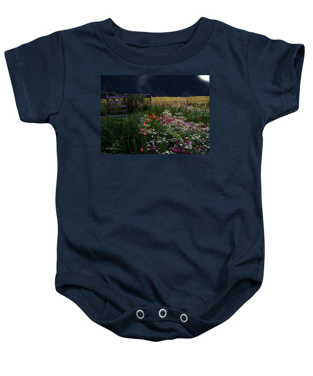 Landscape Baby Onesie featuring the painting Tapestry In The Wild by RC DeWinter