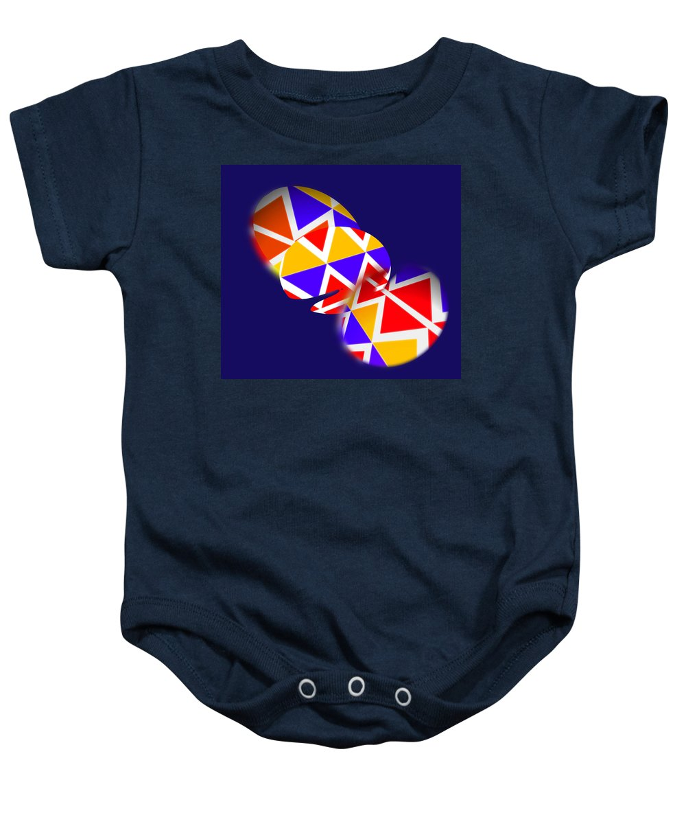 Native American Baby Onesie featuring the painting Tectonic by Charles Stuart