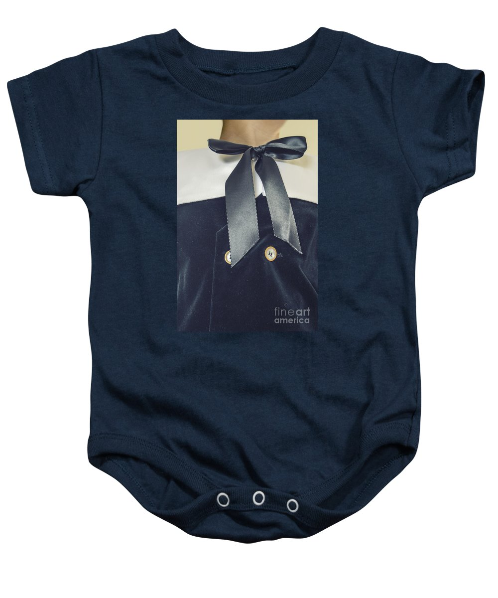 Caucasian Baby Onesie featuring the photograph That's What Little Boys Are Made Of by Margie Hurwich