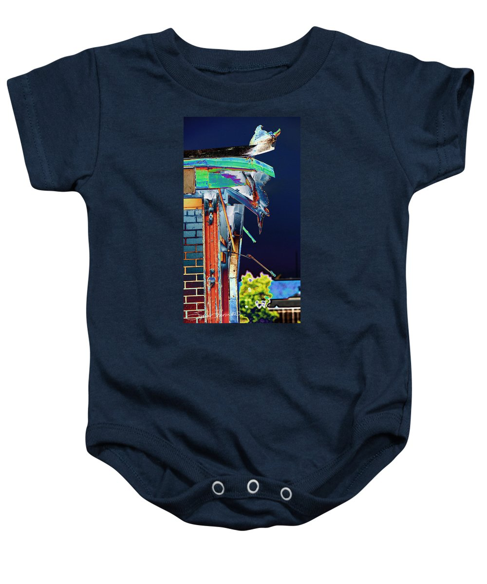 Old Building Baby Onesie featuring the photograph The Edge Of Glory by Sylvia Thornton