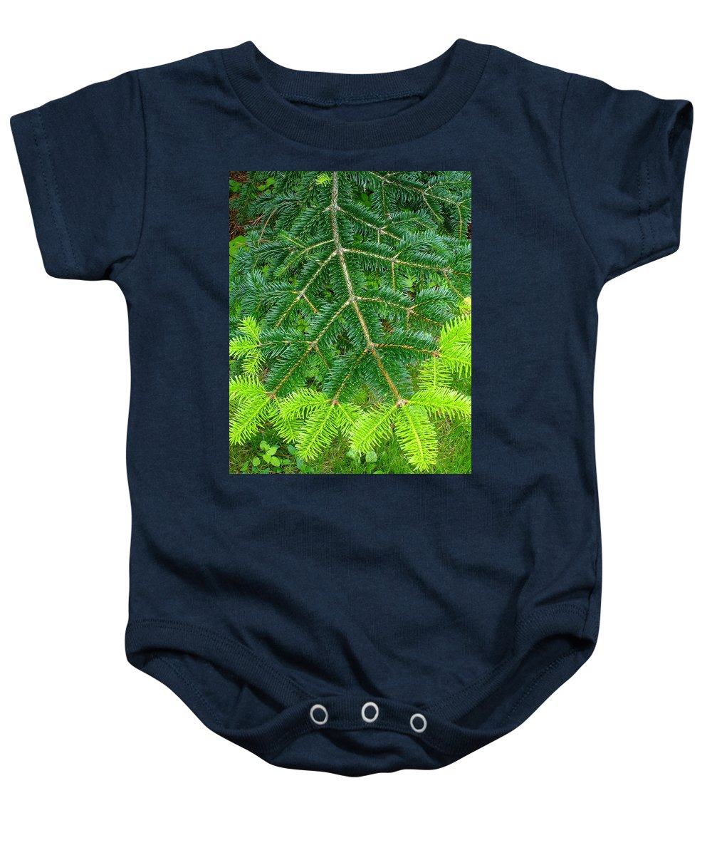 Trees Baby Onesie featuring the photograph The Freshness Of New Growth Is A Thing Of Beauty And Wonder by Ben Upham III