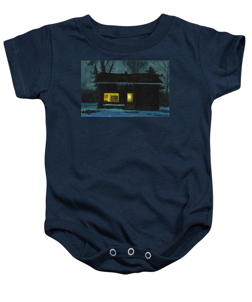Landscape Baby Onesie featuring the painting The Old House by Arthur Barnes