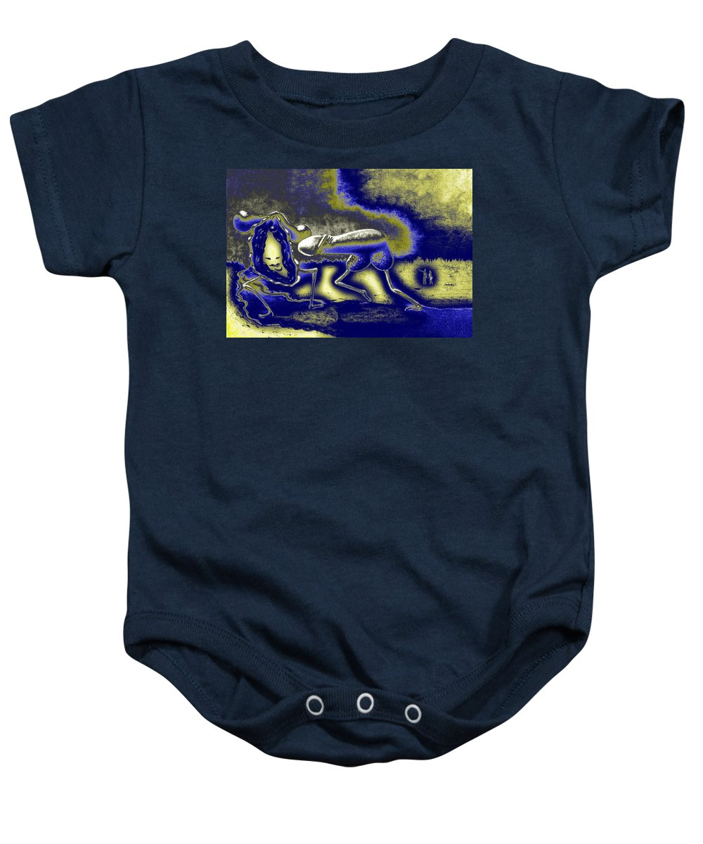 Genio Baby Onesie featuring the mixed media The Result Of Yearning by Genio GgXpress