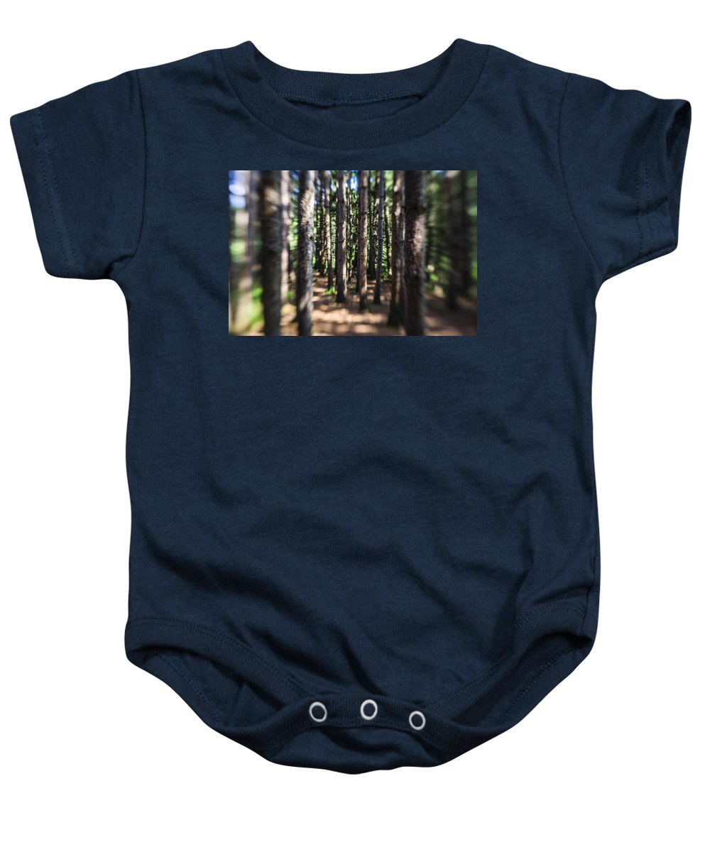 Water Baby Onesie featuring the photograph The Surreal Forest by Alex Potemkin