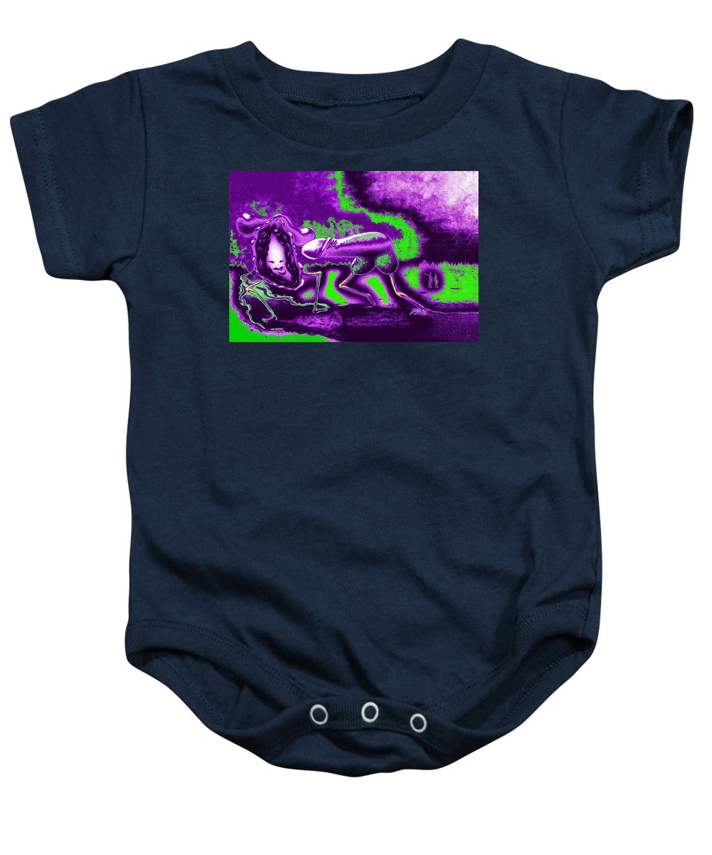 Genio Baby Onesie featuring the mixed media The Urge For Mutual Happiness by Genio GgXpress