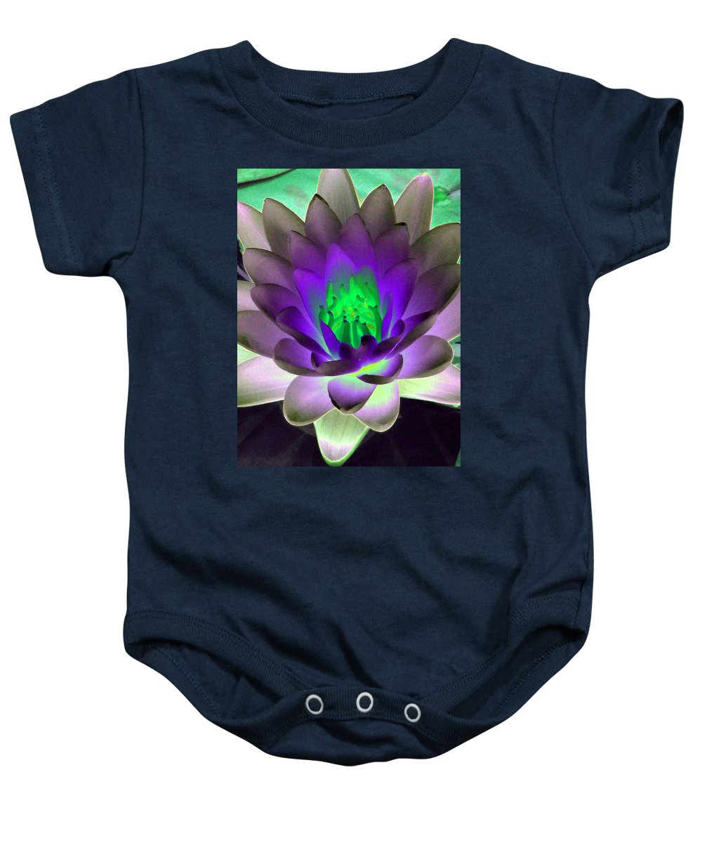 Water Lilies Baby Onesie featuring the photograph The Water Lilies Collection - Photopower 1115 by Pamela Critchlow