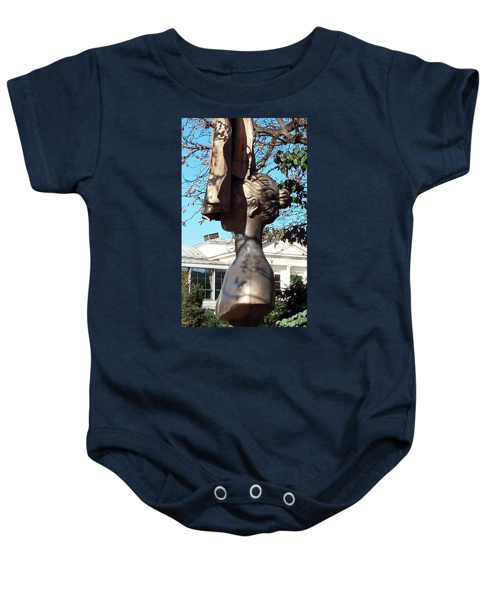 Paris Baby Onesie featuring the photograph The Woman Behind The Cape by Richard Rosenshein