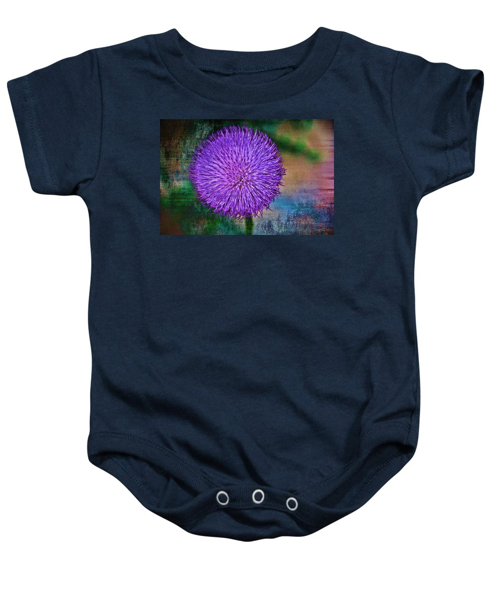 Thistle Baby Onesie featuring the photograph Thistle by Charles Muhle