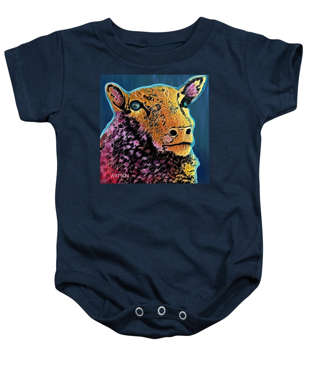 Countryside Baby Onesie featuring the digital art Too Pretty To Eat by Marlene Watson