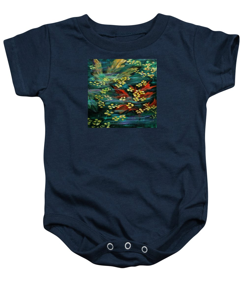 Nature Baby Onesie featuring the painting Transforming... by Xueling Zou