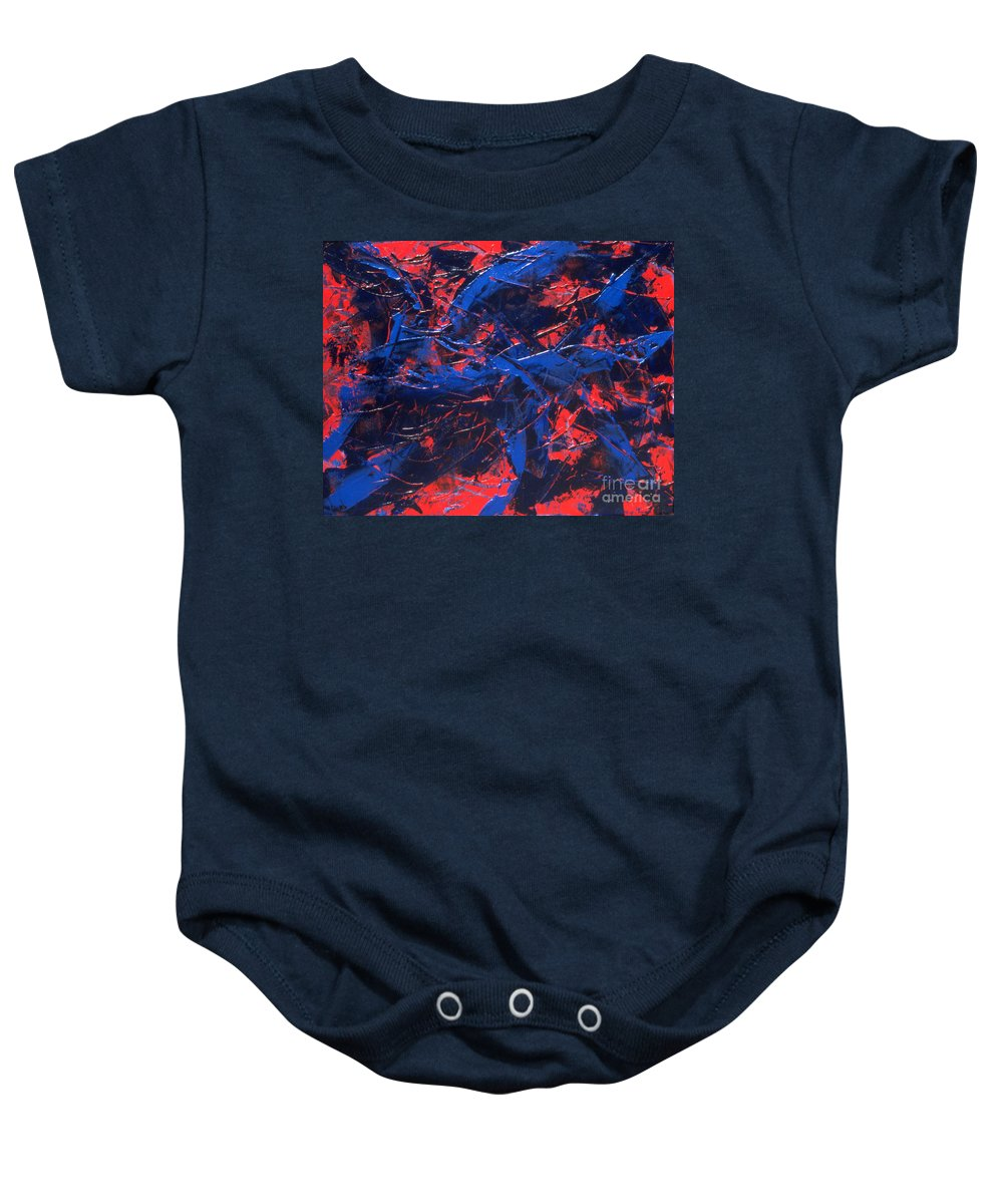 Abstract Baby Onesie featuring the painting Transitions Iv by Dean Triolo