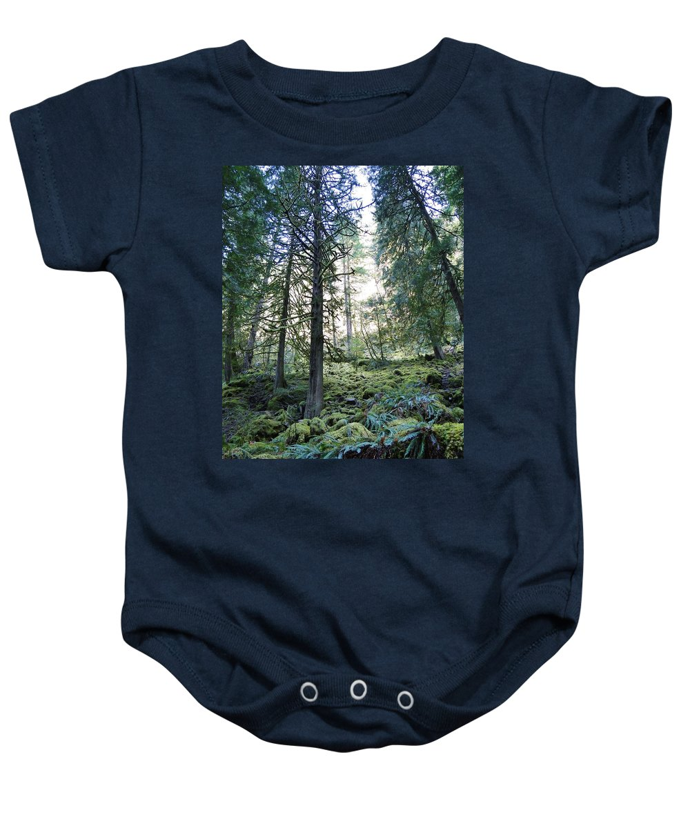 Trees Baby Onesie featuring the photograph Treequility by Athena Mckinzie