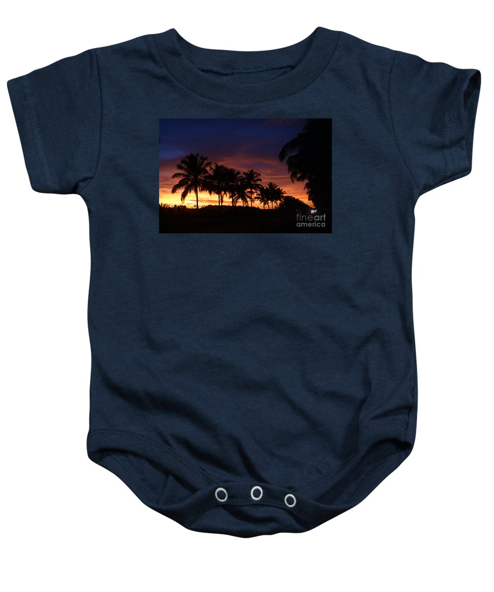 Twilight Baby Onesie featuring the photograph Twilight by Dattaram Gawade