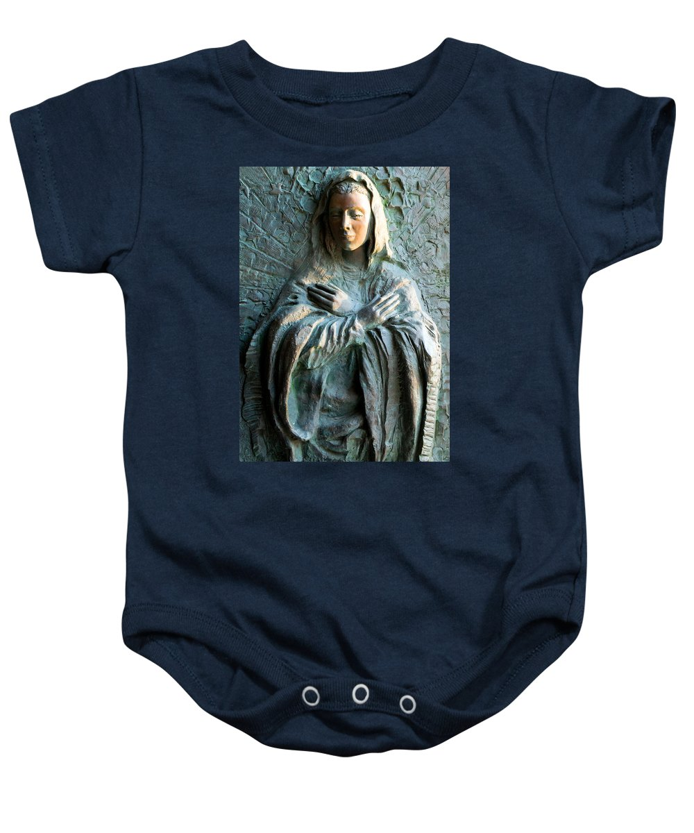 Civitavecchia Baby Onesie featuring the photograph Virgin Mary Relief by Munir Alawi