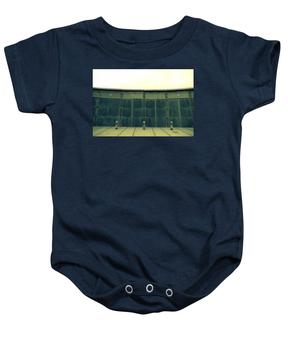 Warehouse Baby Onesie featuring the photograph Warehouse by Valentino Visentini