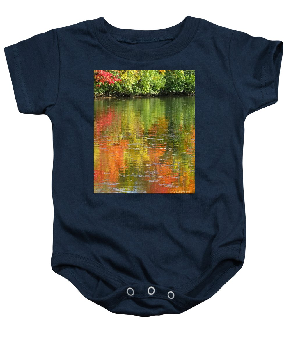 Autumn Baby Onesie featuring the photograph Water Colors by Ann Horn