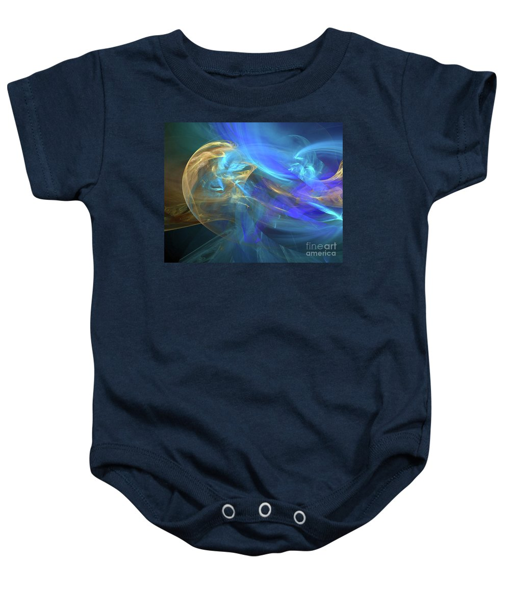 Waves Baby Onesie featuring the digital art Waves Of Grace by Margie Chapman