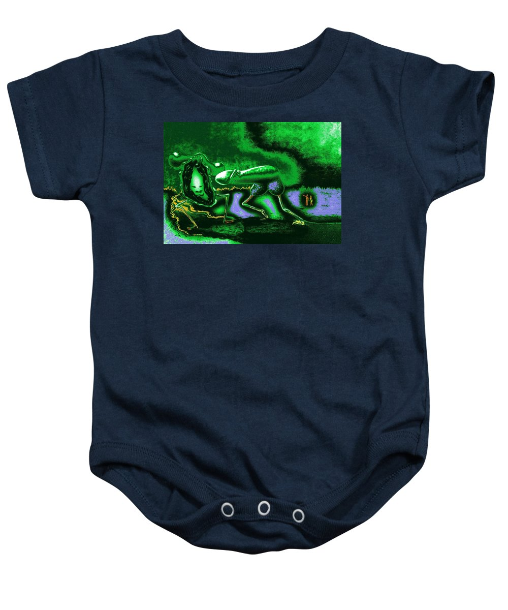 Genio Baby Onesie featuring the mixed media When Springtime Passion Erupts by Genio GgXpress