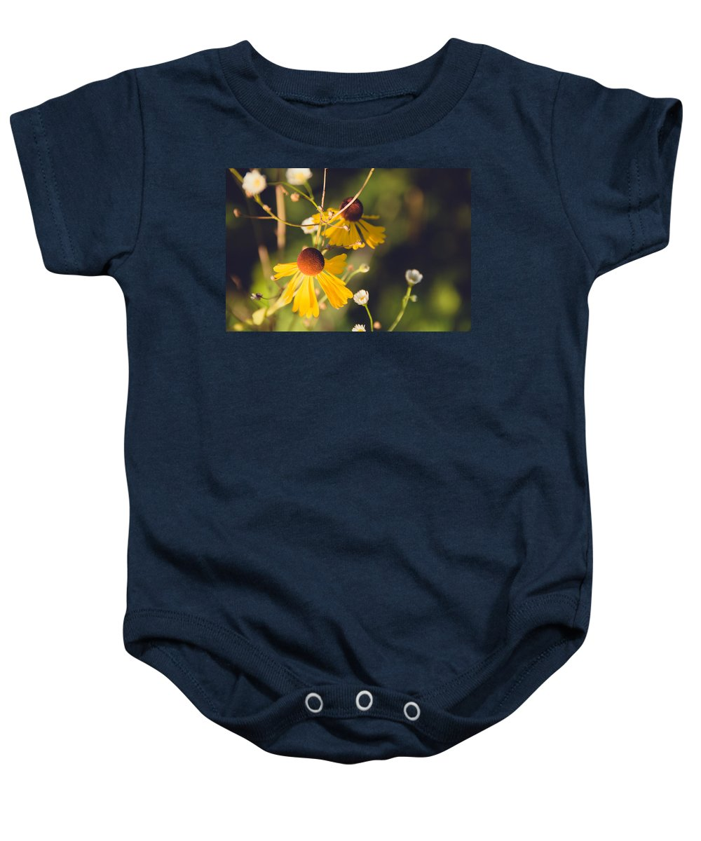 Flower Prints Baby Onesie featuring the photograph Wild Flower by Stacy Abbott