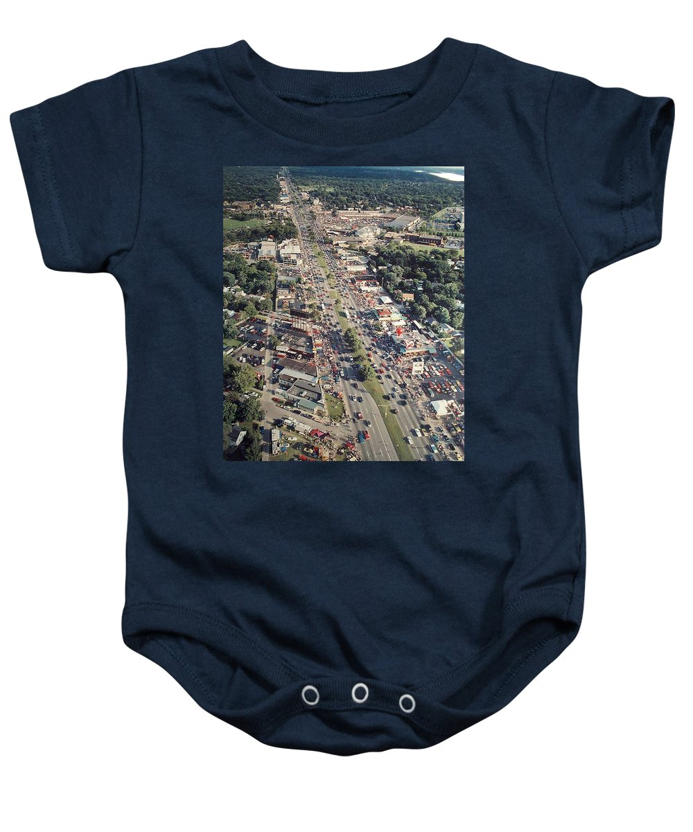 Woodward Avenue Baby Onesie featuring the photograph Woodward Avenue Michigan by Thomas Woolworth