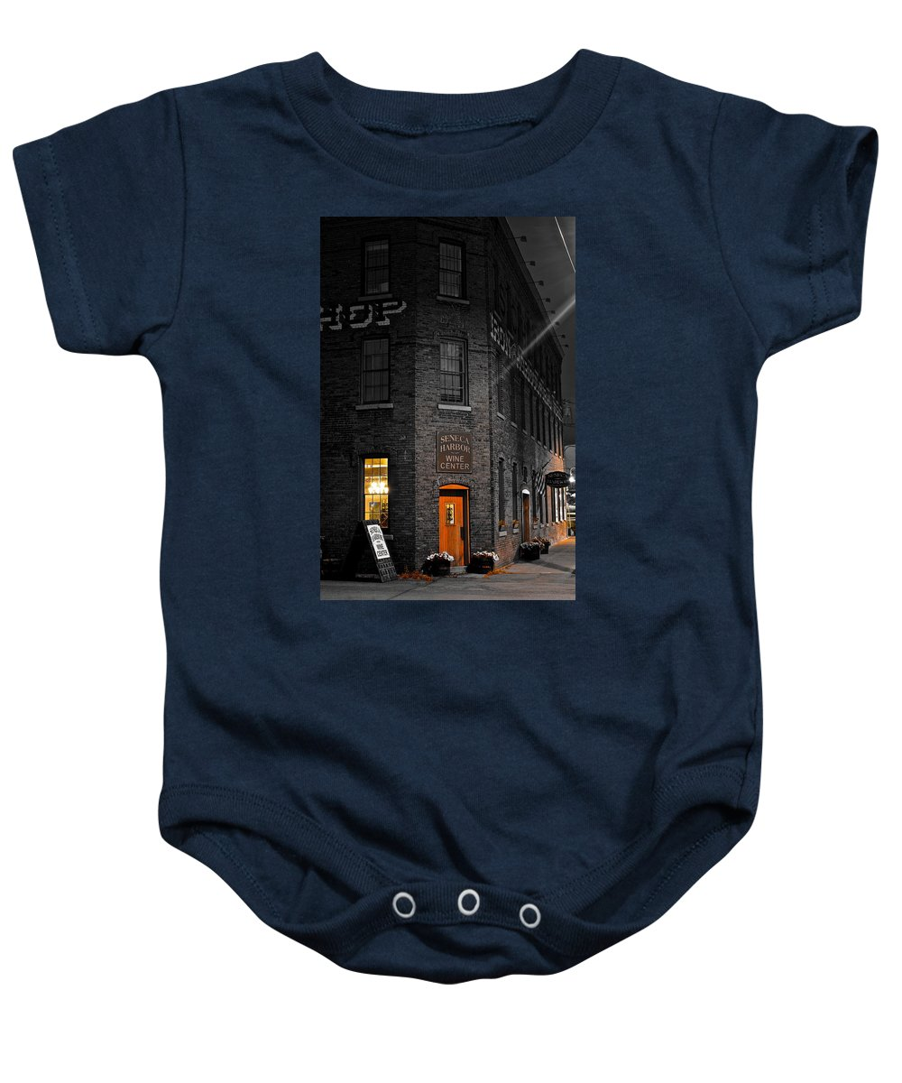 Working Baby Onesie featuring the photograph Working Late by Frozen in Time Fine Art Photography