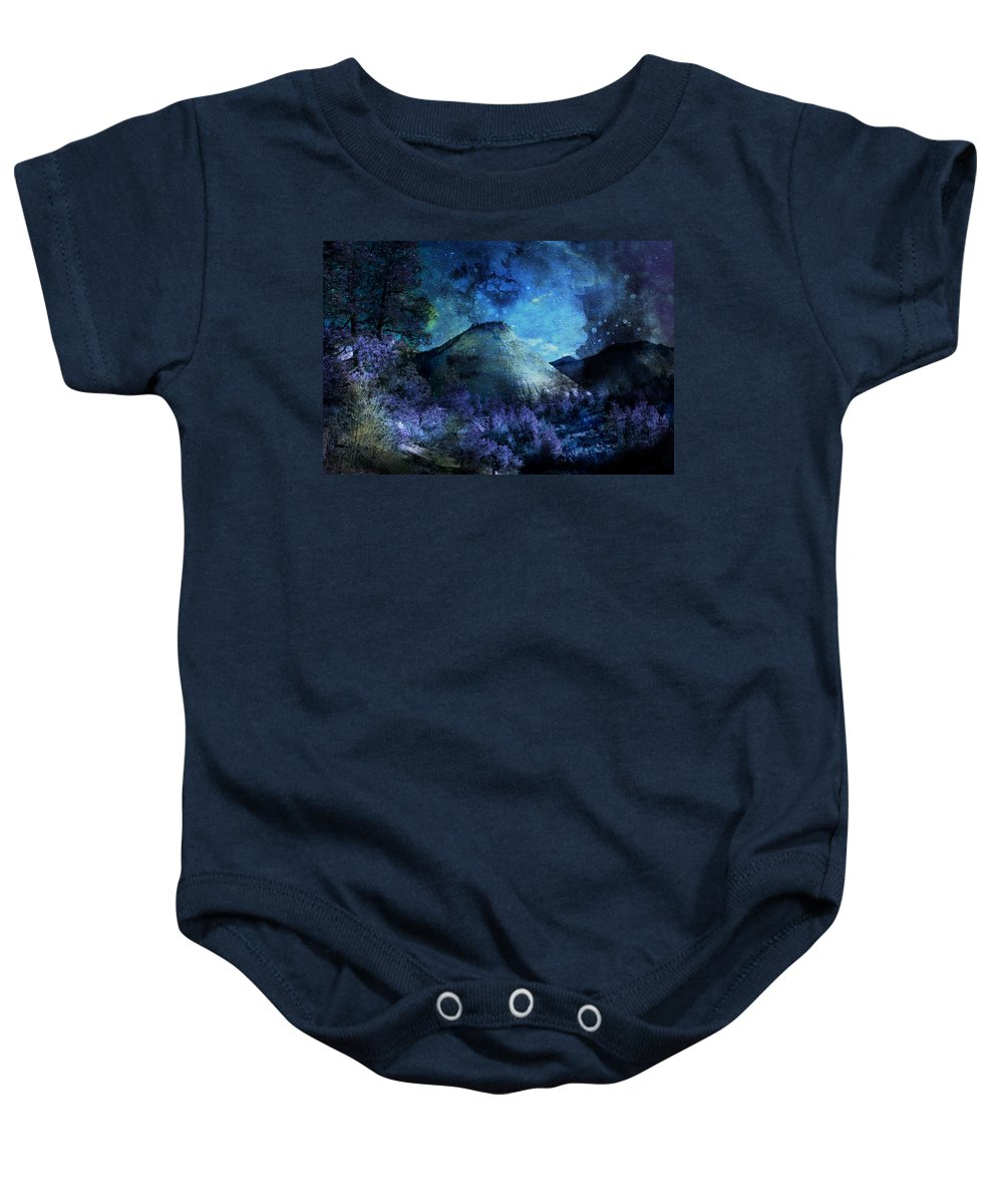 Evie Baby Onesie featuring the photograph Zion Nights by Evie Carrier
