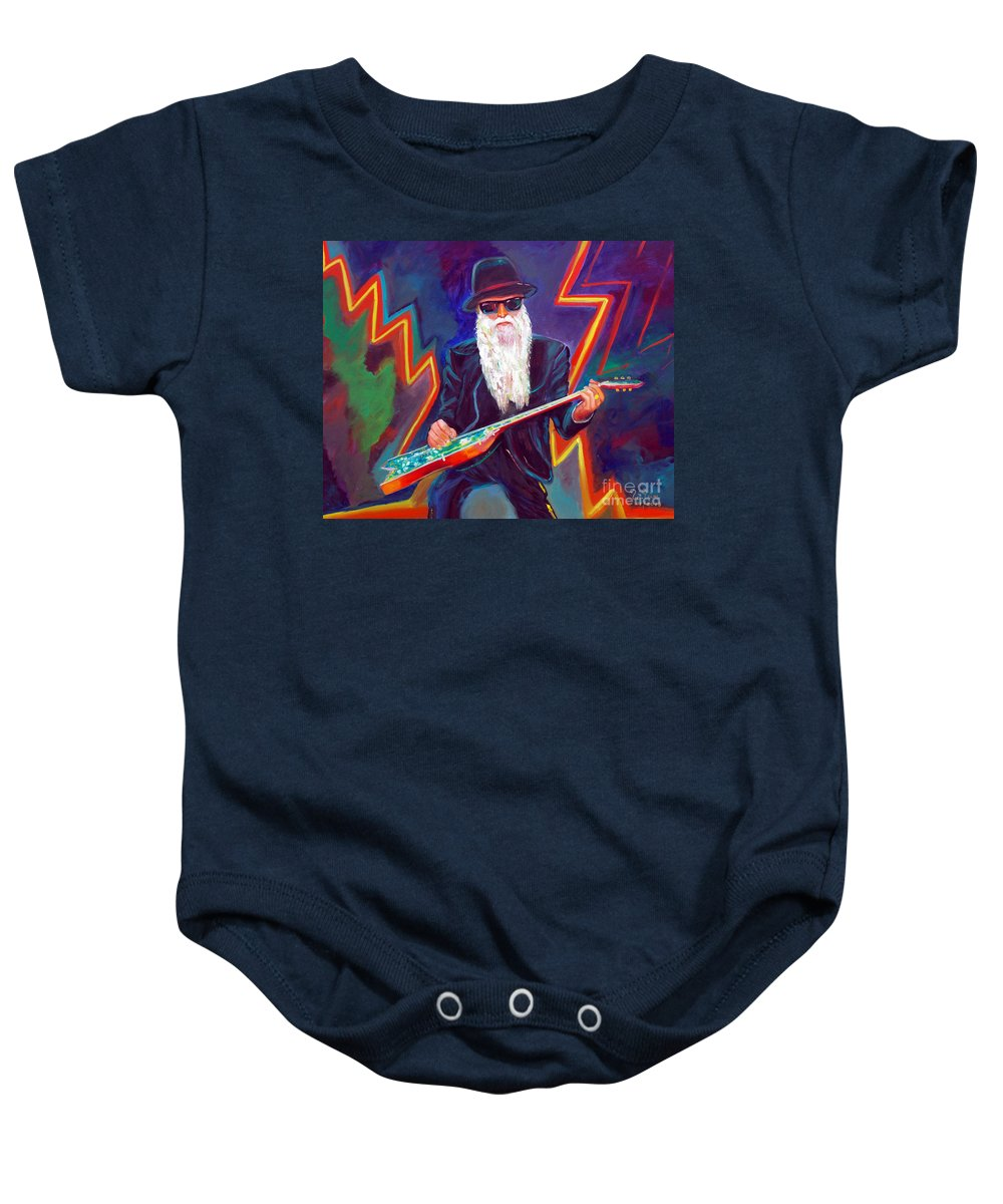 Autism Baby Onesie featuring the painting Zz Top 3 by To-Tam Gerwe
