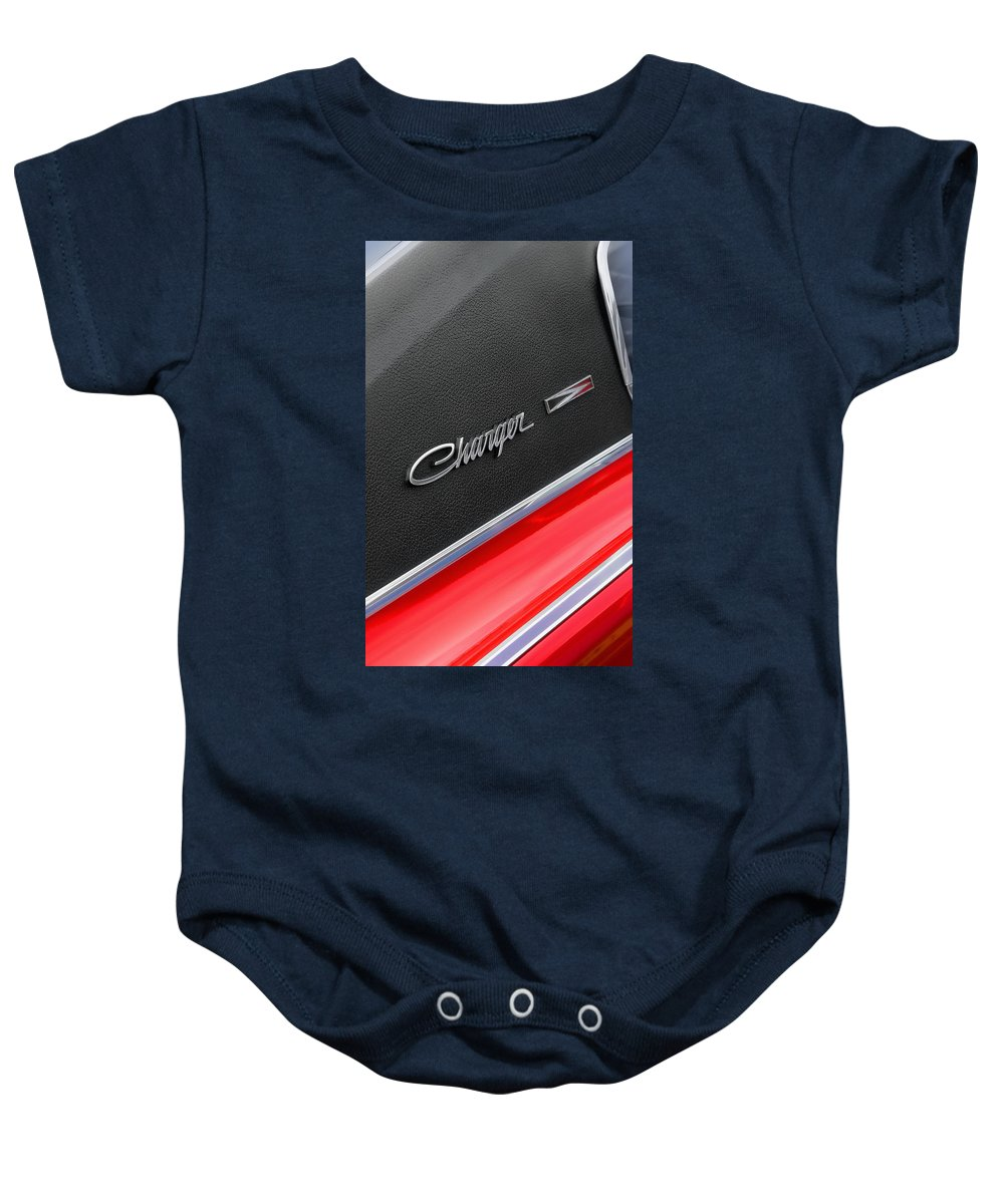 Scat Baby Onesie featuring the photograph 1967 Dodge Charger by Gordon Dean II